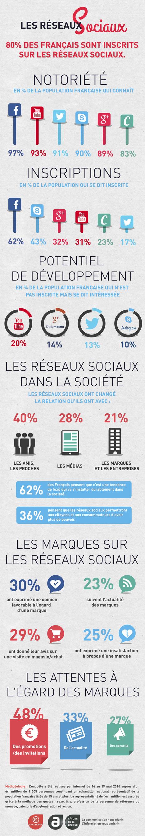 Les Réseaux Sociaux en France. Toutes les statistiques | Actus Marketing & Communication pour l'immobilier | Scoop.it