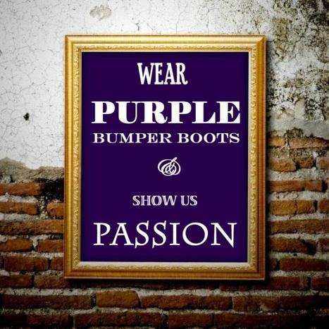 Purple bumper boots, passion and mind numbing bullets. | Presentations - Lets get creative! | Scoop.it