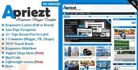Apriezt - Responsive Magazine/News Blogger Theme v1.2 | Urdu & Hindi Video Tutorial | itawami | Blogger themes | Scoop.it