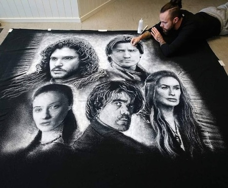 Artist creates impressive colossal portraits using the humble kitchen salt | D_sign | Scoop.it