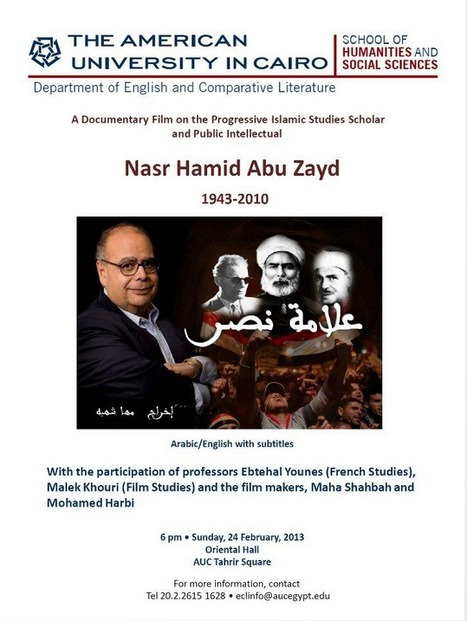 Cairo screening of documentary film about the life of Nasr Hamid Abu Zayd (1943-2010) | Égypt-actus | Scoop.it