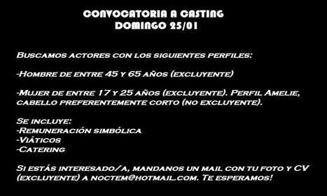 Casting para corto | Comunicación,artes...trabajo | Scoop.it