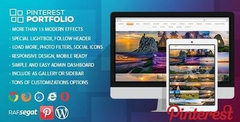 Pinterest Portfolio/Widget - Wordpress Plugin (Social Networking) Download   Wordpress Themes Download   Scoop.it