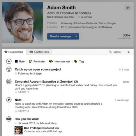 'LinkedIn Contacts' Helps You Build, Maintain Important Relationships | LOGISTICS AND SOCIAL MEDIA | Scoop.it