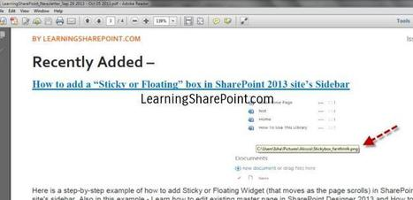 Remove Image location ToolTip from Images in PDF | SharePoint 2013\SharePoint 15 | Scoop.it