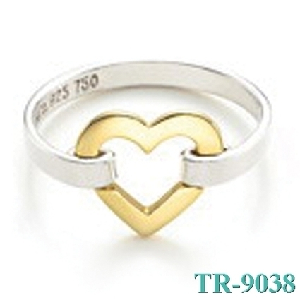 Tiffany and co Gold Heart Connected Ring jewelry Outlet At TiffanyCOJewelryUKOutlet.org - $44.52 | style it | Scoop.it
