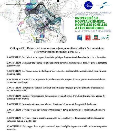 10 propositions pour une universite 3.0 - CPU on Twitter | Elearning, pédagogie, technologie et numérique... | Scoop.it