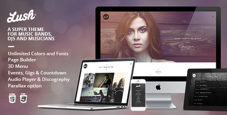 Lush: Music WordPress Theme Made For Everyone In the Music Industry - WordPress For Musicians | Wordpress For Musicians And Creatives | Scoop.it