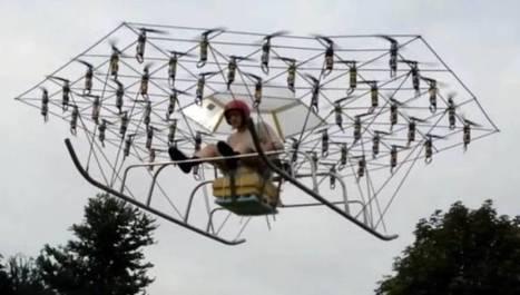 Σύγχρονος «Κύρος Γρανάζης» έφτιαξε ιπτάμενο όχημα από 54 ελικοπτεράκια!  [video] | ΤΕΧΝΟΛΟΓΙΑ | Scoop.it
