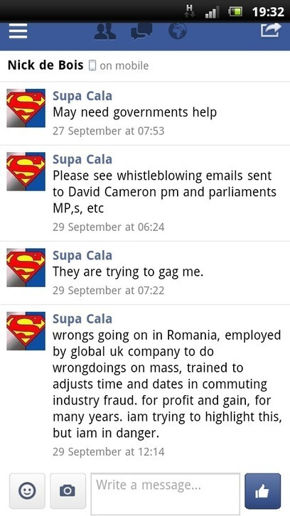 DISCLOSURE MADE TO NICK DE BOIS MP, TWITTER, FACEBOOK, EMAILS. | SUPACALA1, INDUSTRIAL FRAUD WHISTLE-BLOWER | Scoop.it