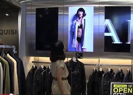 Japanese retailer Parco shows product video when a hanger is removed from display « Retail Innovation | Retail | Scoop.it