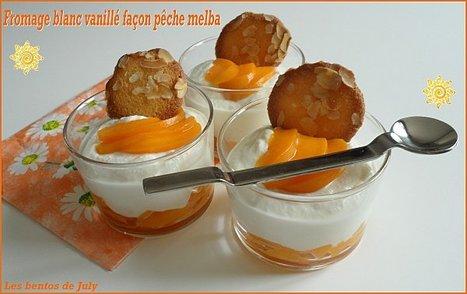 Fromage blanc vanillé façon pêche melba (allégé) - Les bento de ... | Gastronomie et alimentation pour la santé | Scoop.it