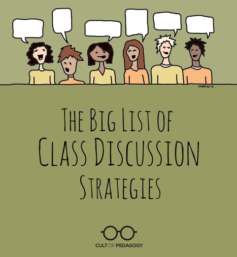 List of Class Discussion Strategies // Cult of Pedagogy | Purposeful Pedagogy | Scoop.it