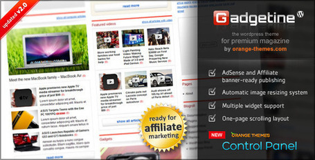 Gadgetine Wordpress Theme for Premium Magazine | Wordpress Themes | Scoop.it