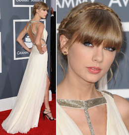 Taylor Swift Braided Updo At 2013 Grammy Awards | Red Carpet Looks | Scoop.it
