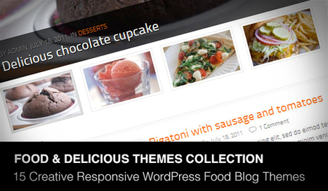 Comment on 15 Creative Responsive WordPress Food Blog Themes by Web Designing Service for Restaurants | Daily Design Notes | Scoop.it