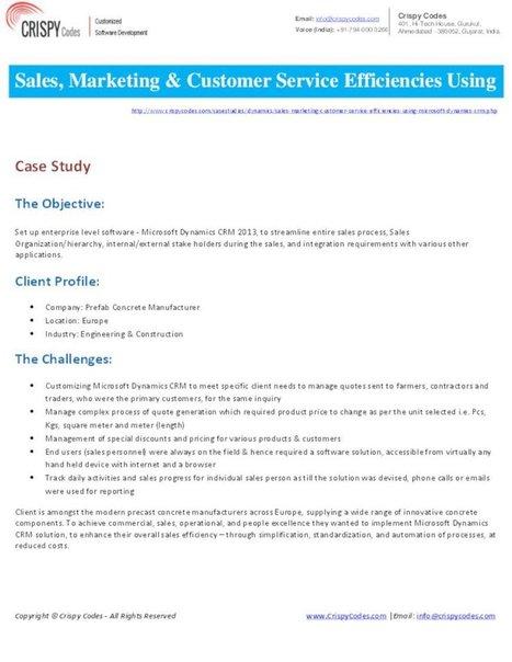 Sales, Marketing & Customer Service efficiencies using MS Dynamics CRM | Hi-Tech ITO(Offshore Software Development Company) | Scoop.it