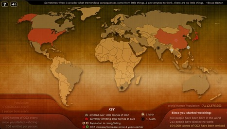 Breathingearth - CO2, birth & death rates by country, simulated real-time | Lateral Thinking Knowledge | Scoop.it