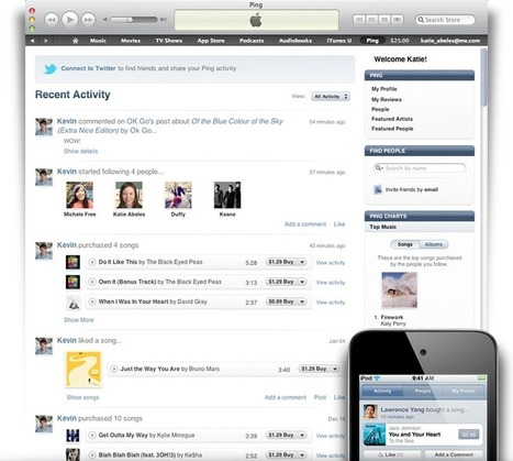Apple - iTunes - Ping: Social network for music. | The Music Industry and Social Media | Scoop.it