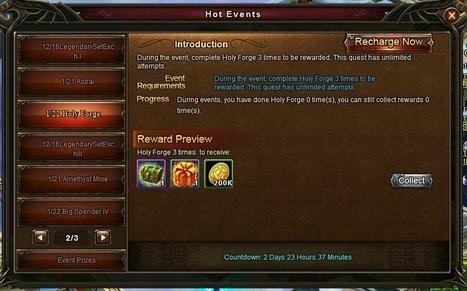 Wartune Addicts Blog: Wartune New Events 01/22: Holy Forge, Online Rewards, and Big Spender Event | Wartune Addicts | Scoop.it