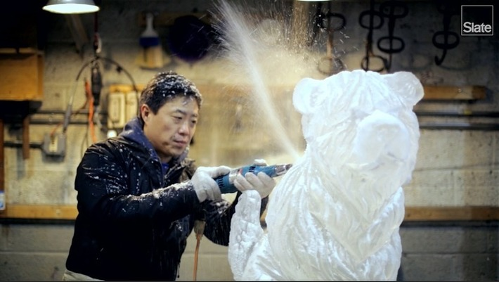 Inside an Ice Sculptor's Studio, Where All the Art Will Inevitably Disappear | Slate | Amériques | Scoop.it