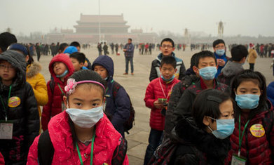 Chinese struggle through 'airpocalypse' smog | Health, Wealth and Well Being | Scoop.it