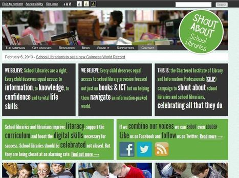 Shout about School Libraries | DPS Teacher-Librarian Advocacy ... | Evolving School Libraries | Scoop.it