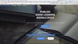 Gdoc.pub: un service open source qui relooke vos gdocs – Le coutelas de Ticeman | le foyer de Ticeman | Scoop.it
