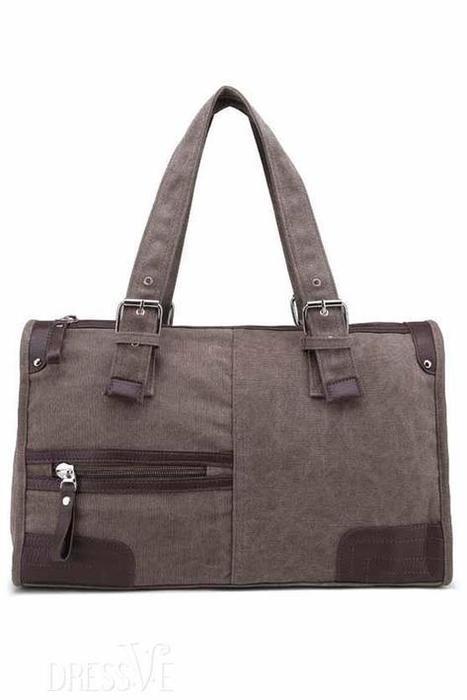 Rectangle Zipper Canvas Tote Bag   Dressve fashion   Scoop.it