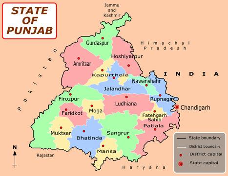 Punjab Map | The Reluctant Fundamentalist Pakistan | Scoop.it
