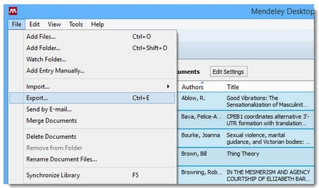 How to import your Mendeley library into Zotero | François MAGNAN  Formateur Consultant | Scoop.it