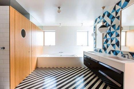 13 ιδέες για πλακάκια μπάνιου που είναι κάθε άλλο παρά βαρετά... | Interior Design | Scoop.it