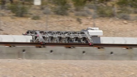 Hyperloop One shows off magnetic drive in dramatic demonstration in Nevada desert | Amazing Science | Scoop.it