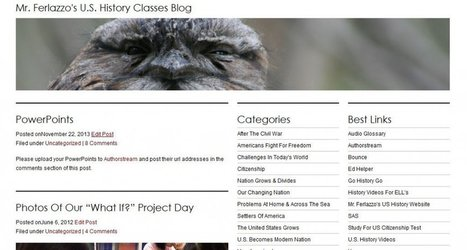 My U.S. History Class Blog Has Now Been (Almost) Completely Updated | Literacy Using Web 2.0 | Scoop.it
