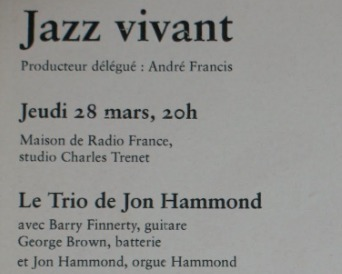 Radio France Inter Concert finale Jon Hammond Trio et Journal ... | Actu + Media d'avance | Scoop.it