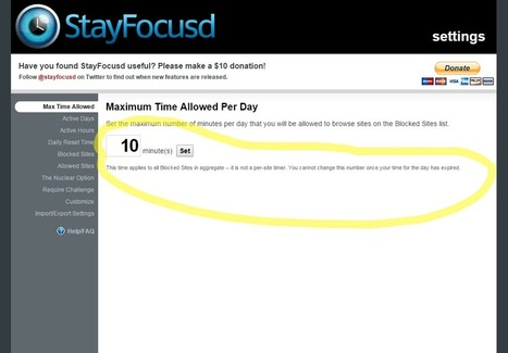 Free Technology for Teachers: Stay Focused - A Chrome Extension That Helps You Eliminate Distractions | Teaching (EFL & other teaching-learning related issues) | Scoop.it