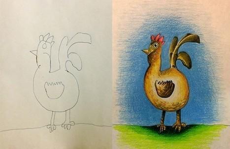 Un papa transforme les dessins de ses enfants en oeuvres d'art   Les expositions   Scoop.it