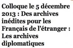 Archives diplomatiques : l'état civil des Français de l'étranger sera numérisé   Rhit Genealogie   Scoop.it