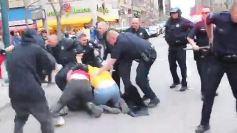 Police Arrest 6 After Downtown Protests Turn Violent - CBS Local | My English Website - Bram van den Braak | Scoop.it