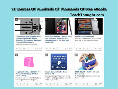 51 Sources Of Hundreds Of Thousands Of Free eBooks | Reading, Writing and other  Interesting Helpful Information | Scoop.it