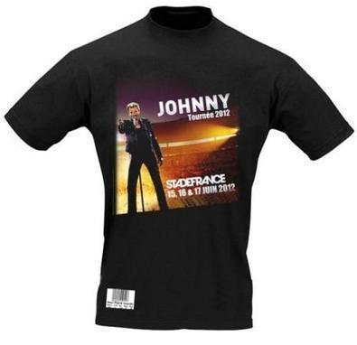 Un t-shirt en guise de billet pour le concert de Johnny Hallyday au Stade de France | Think outside the Box | Scoop.it