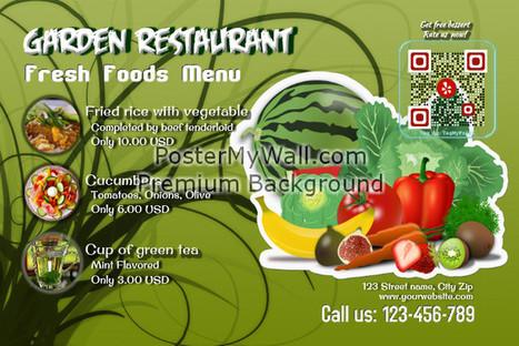 Restaurant menu - with | QR CODE TEMPLATES | Scoop.it