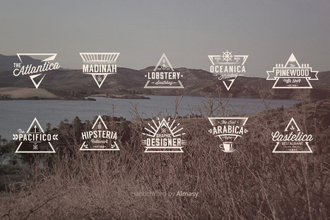 Free Download : 10 VECTOR Triangle Badges Template   News, design & co   Scoop.it