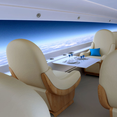 Windowless supersonic private jet with live-streaming screens | Architecture and Architectural Jobs | Scoop.it