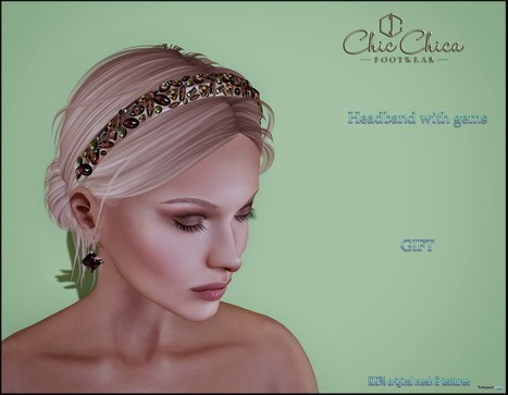 Headband with Gems Gift by ChicChica | Teleport Hub - Second Life Freebies | Second Life Freebies | Scoop.it