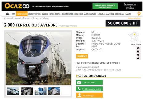 La SNCF met son annonce sur OCAZOO : Site d'annonces de matériels professionnels | LE TRANSPORT | Scoop.it