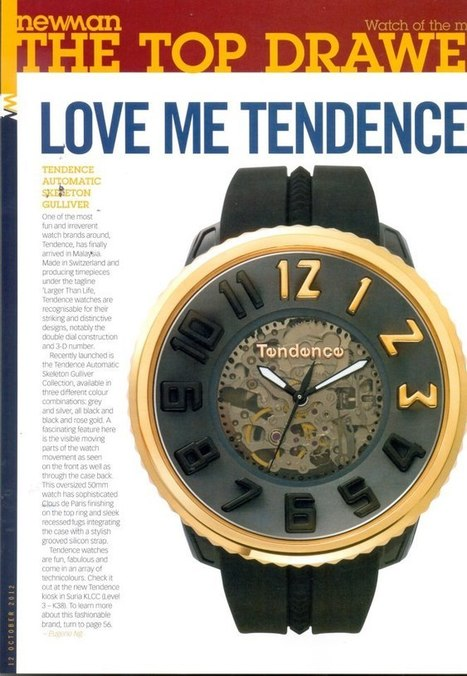 Love me tender, Love me sweet, Never let me go....Get a copy of Newman magazin...   Tendence Watches   Scoop.it