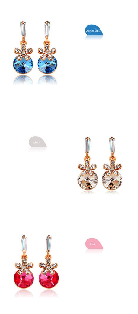 Flowers And Cat's eye-shaped Swarovski Crystal Earrings | Women's Earrings | Scoop.it