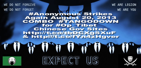 Anonymous Strikes Out Two More Chinese Government Sites | Anonymous Canada International news | Scoop.it