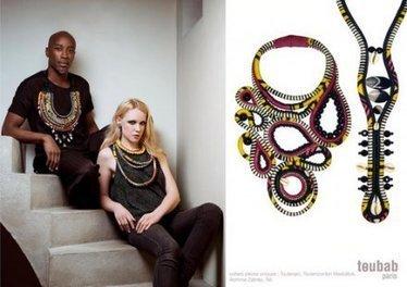 Toubab Paris : des bijoux haute couture très wax - Beautés d'Afrik | WaxinDeco | Scoop.it